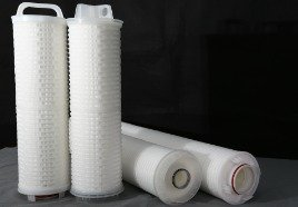 pleated water filter cartridge