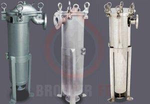 single bag filter housing