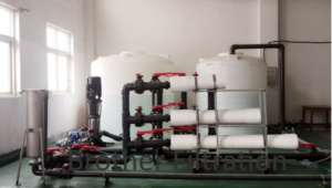 FRP high flow system replacing pentair aqualine